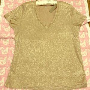 J. Crew 100% linen t-shirt New w/tags